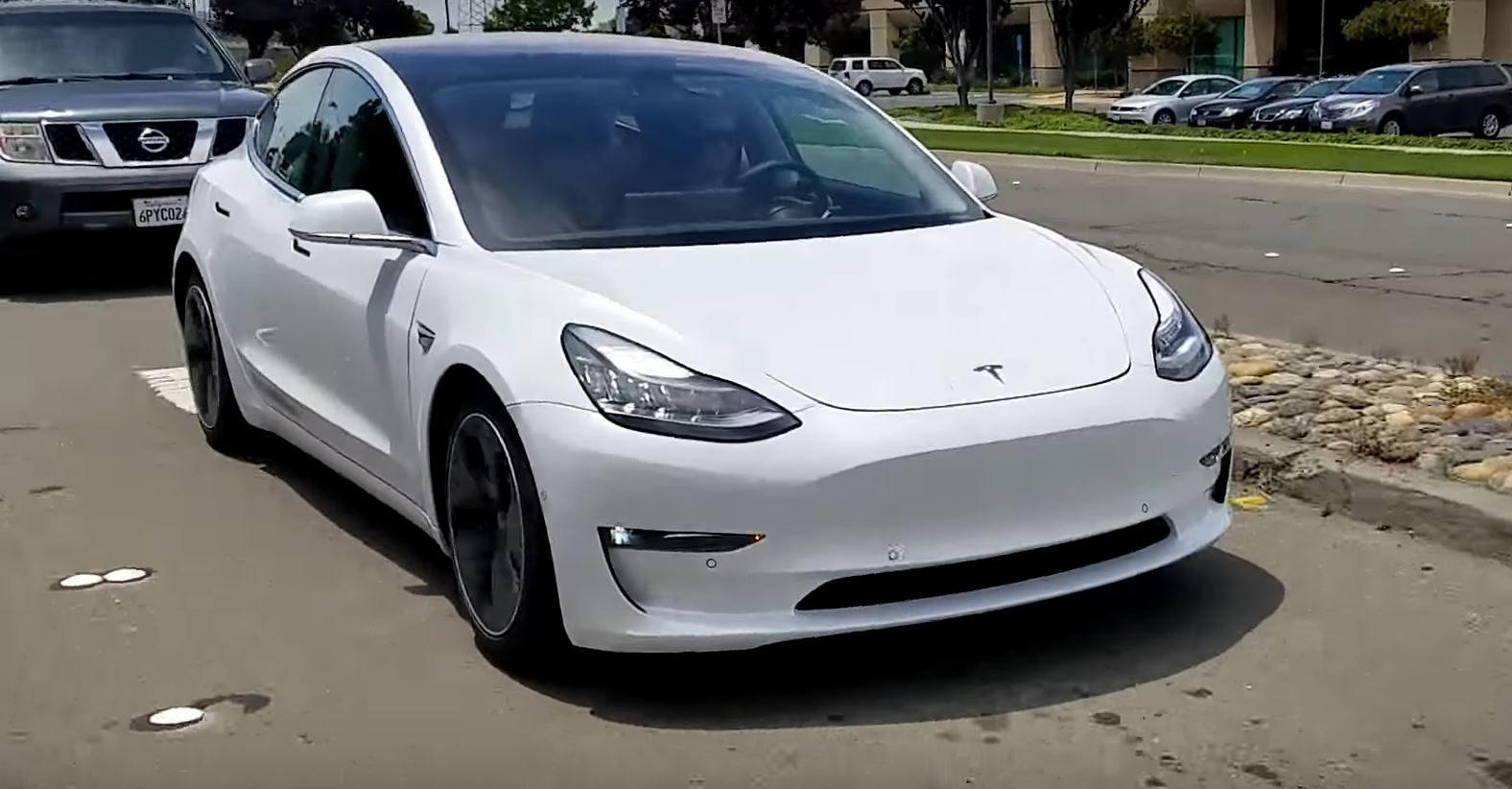 Tesla Model 3 Prototype Spotted Testing In Bay Area Looks
