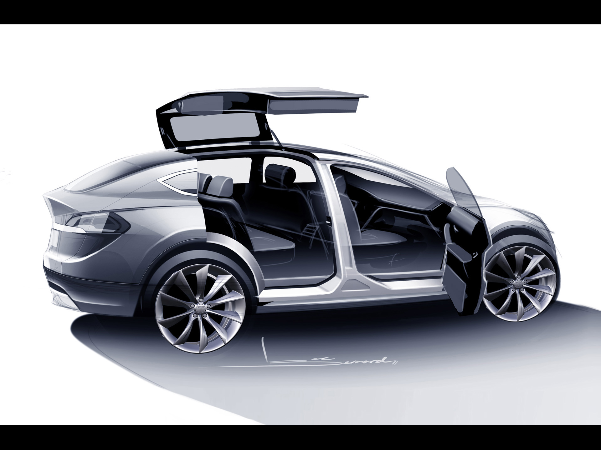 tesla model 3 will gain multiple versions including sedan and crossover autoevolution. Black Bedroom Furniture Sets. Home Design Ideas