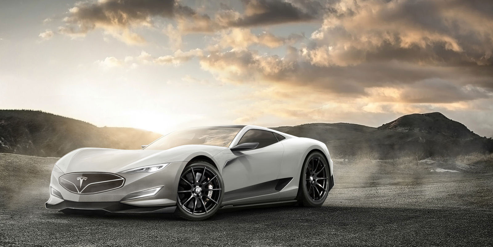 Tesla Model R Is A Rendering Of The Electric Hypercar That