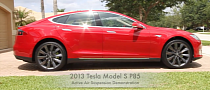 Tesla Model S Active Air Suspension Demo [Video]