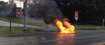 Tesla Model S Catches Fire on the Road [Video]