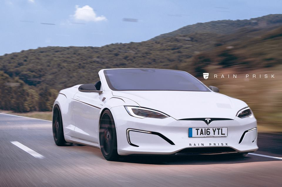Tesla Model S Convertible Rendered Could Make Up For The