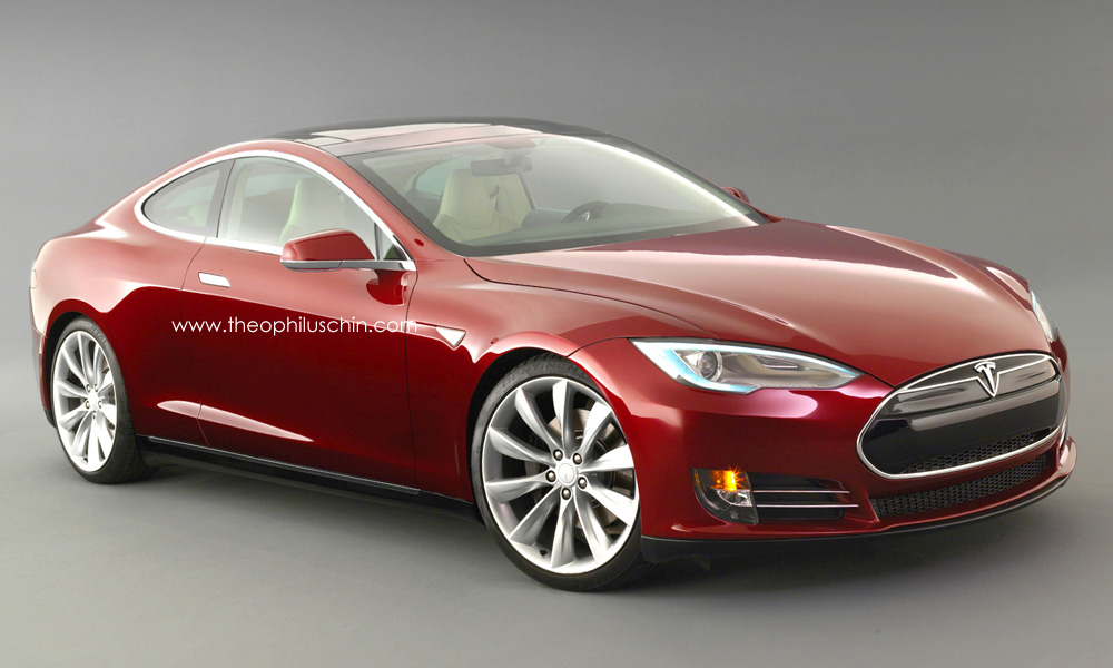 Tesla Model S Coupe Rendering Autoevolution
