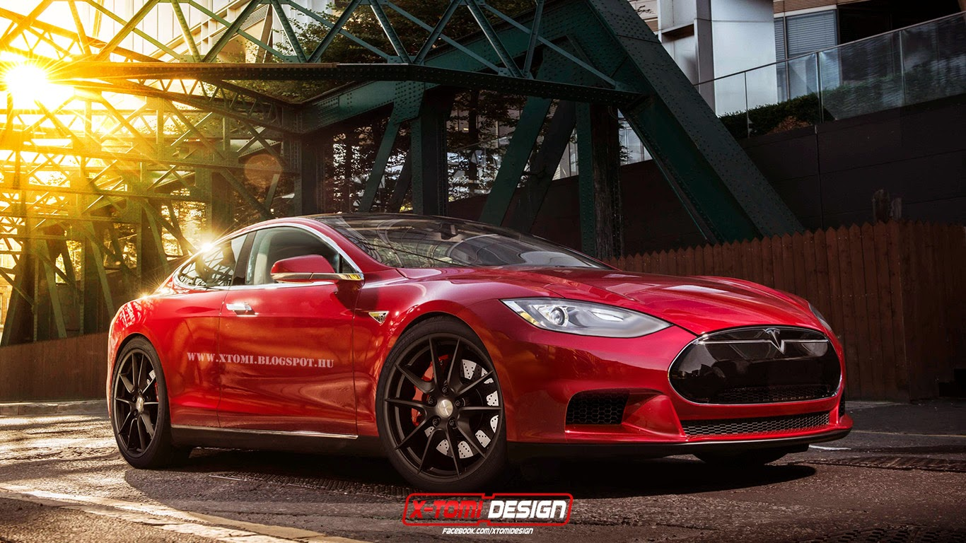 Tesla Model S Coupe Rendering by X-Tomi - autoevolution