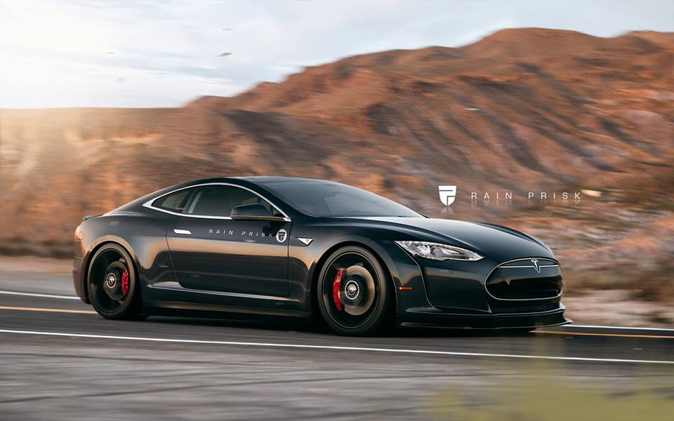 Tesla Model S Coupe Widebody Rendered As The Halo Car Tesla Needs To Build Autoevolution