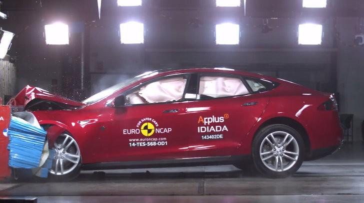tesla model s crash tested awarded 5 star euro ncap rating autoevolution. Black Bedroom Furniture Sets. Home Design Ideas