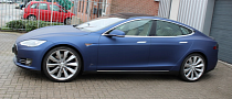 Tesla Model S Gets Matte Metallic Blue Wrap from JD Customs [Photo Gallery]