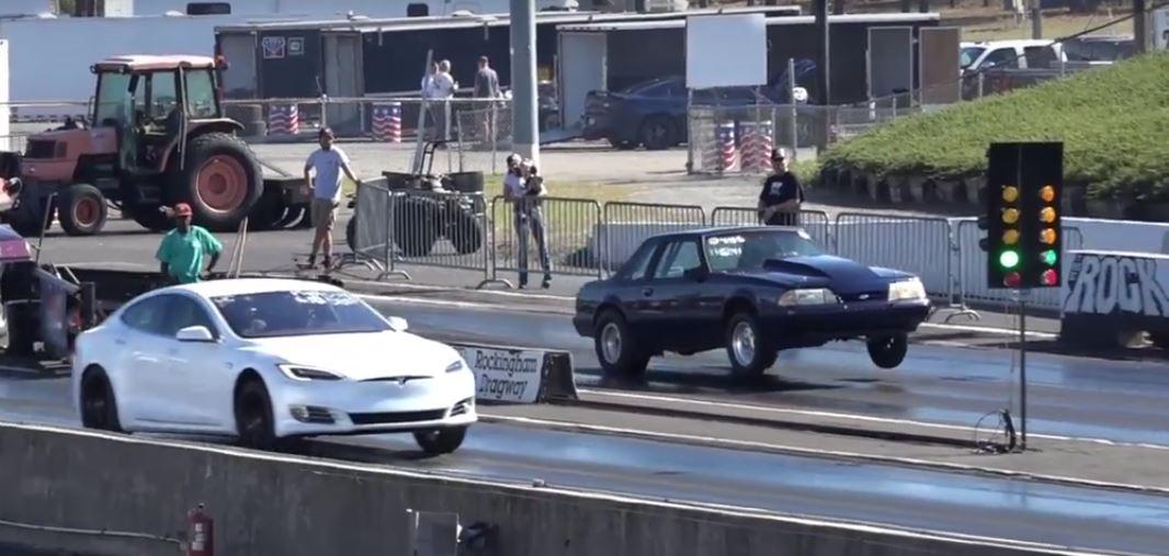 Tesla Model S P100d Vs Drag Cars  Probably Last 1  4