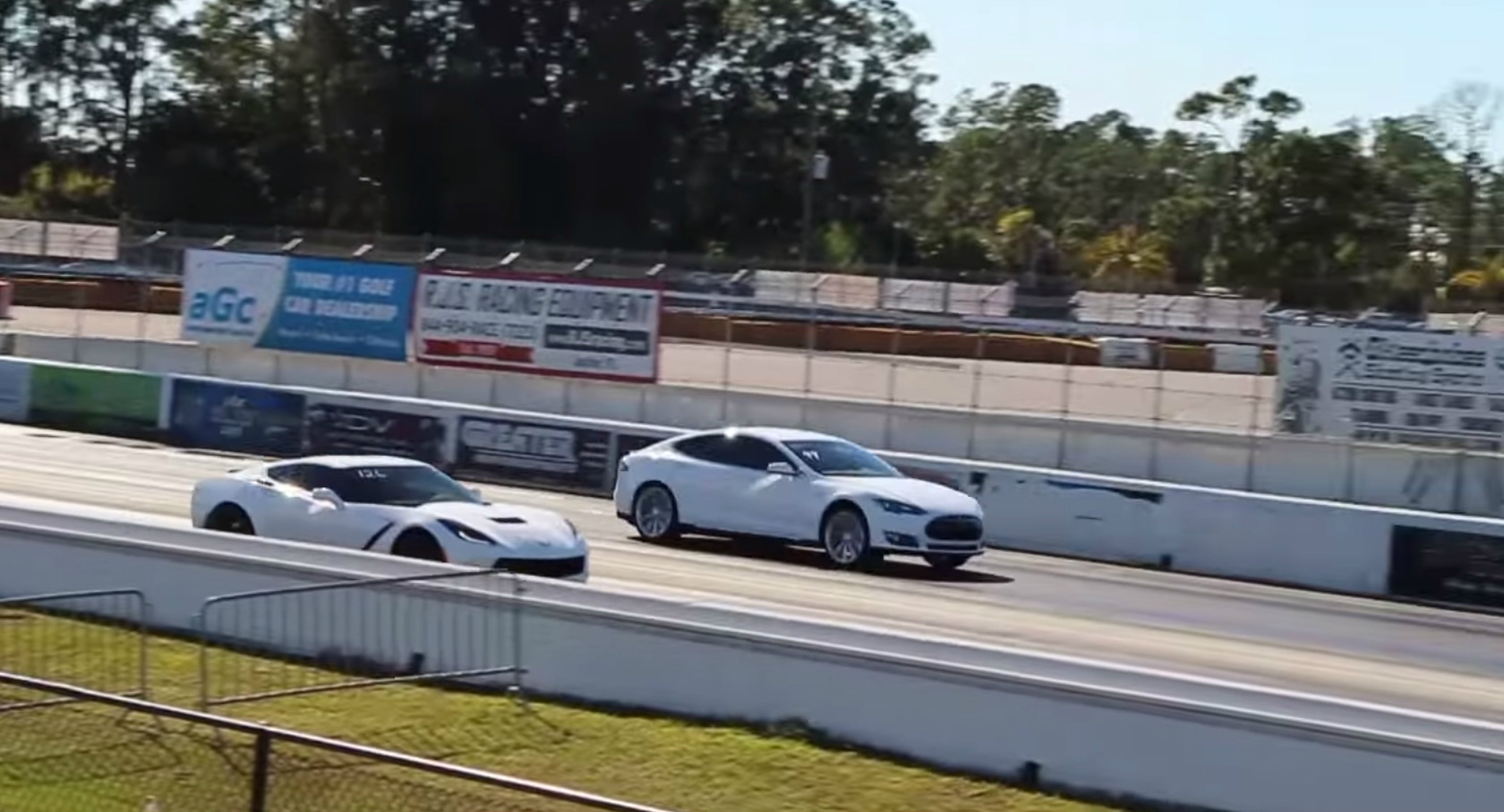 Tesla model s vs corvette
