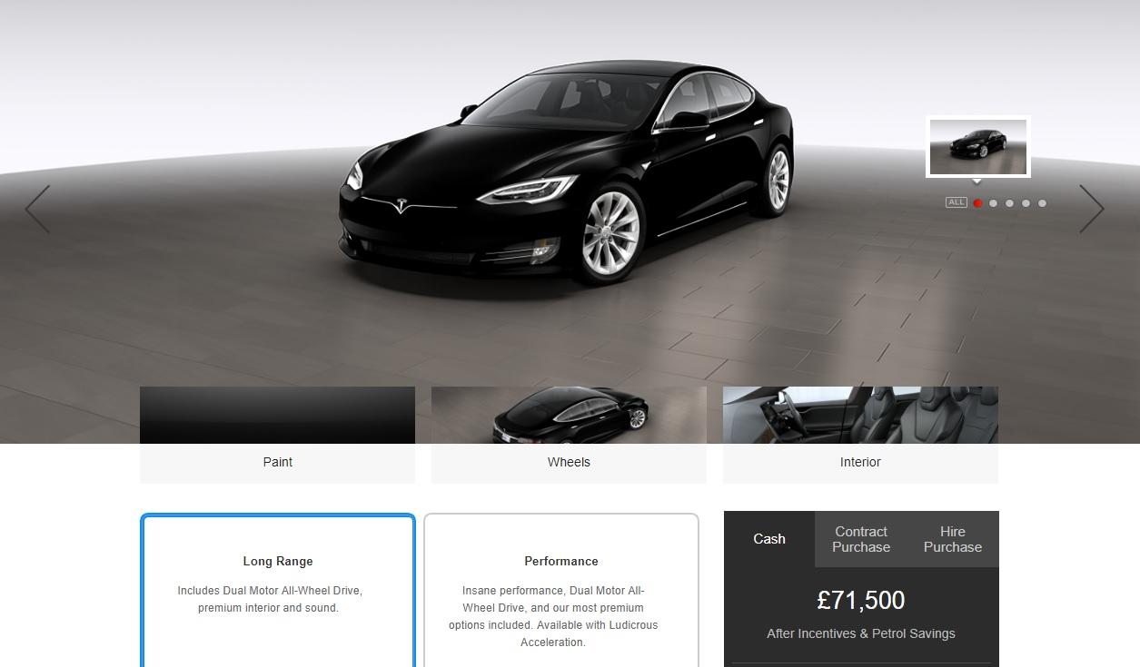 Tesla Model S Standard Range Removed From UK Configurator