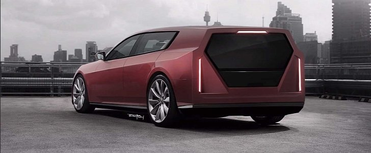 Tesla Model S Turned into Cyberwagon, Embodies Sinister Simplicity - autoevolution