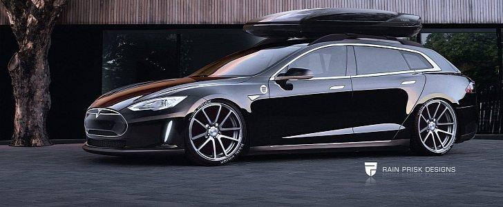 Tesla Model S Wagon Looks Brilliant. Too Bad It Won't Happen - autoevolution