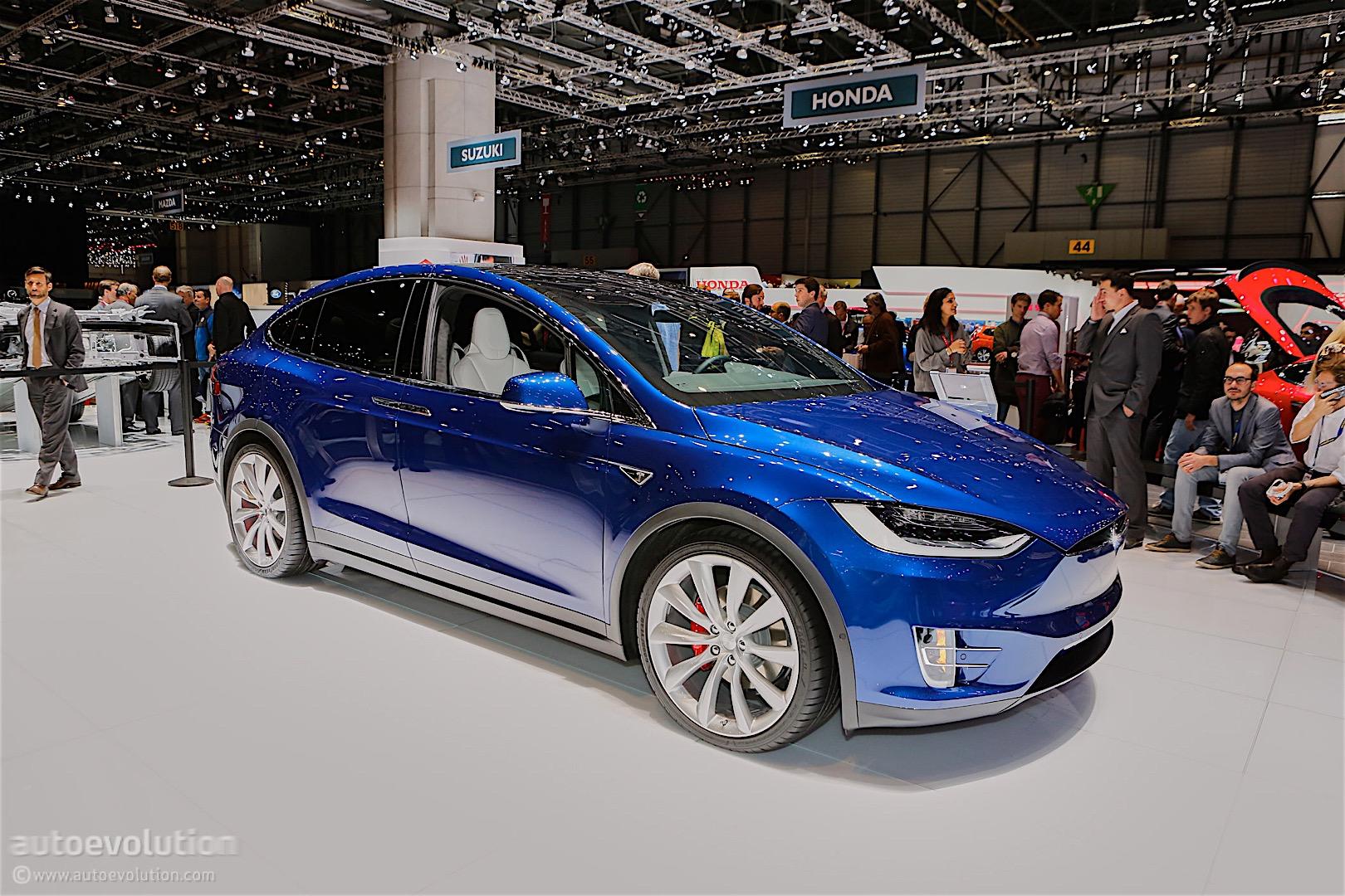 Tesla Showcases Model X Suv At Geneva Motor Show In