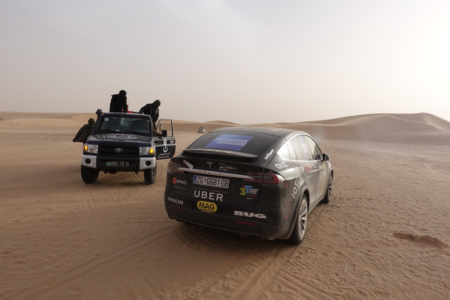 Tesla Model X Crosses the Sahara Desert to Set a First for Electric ...