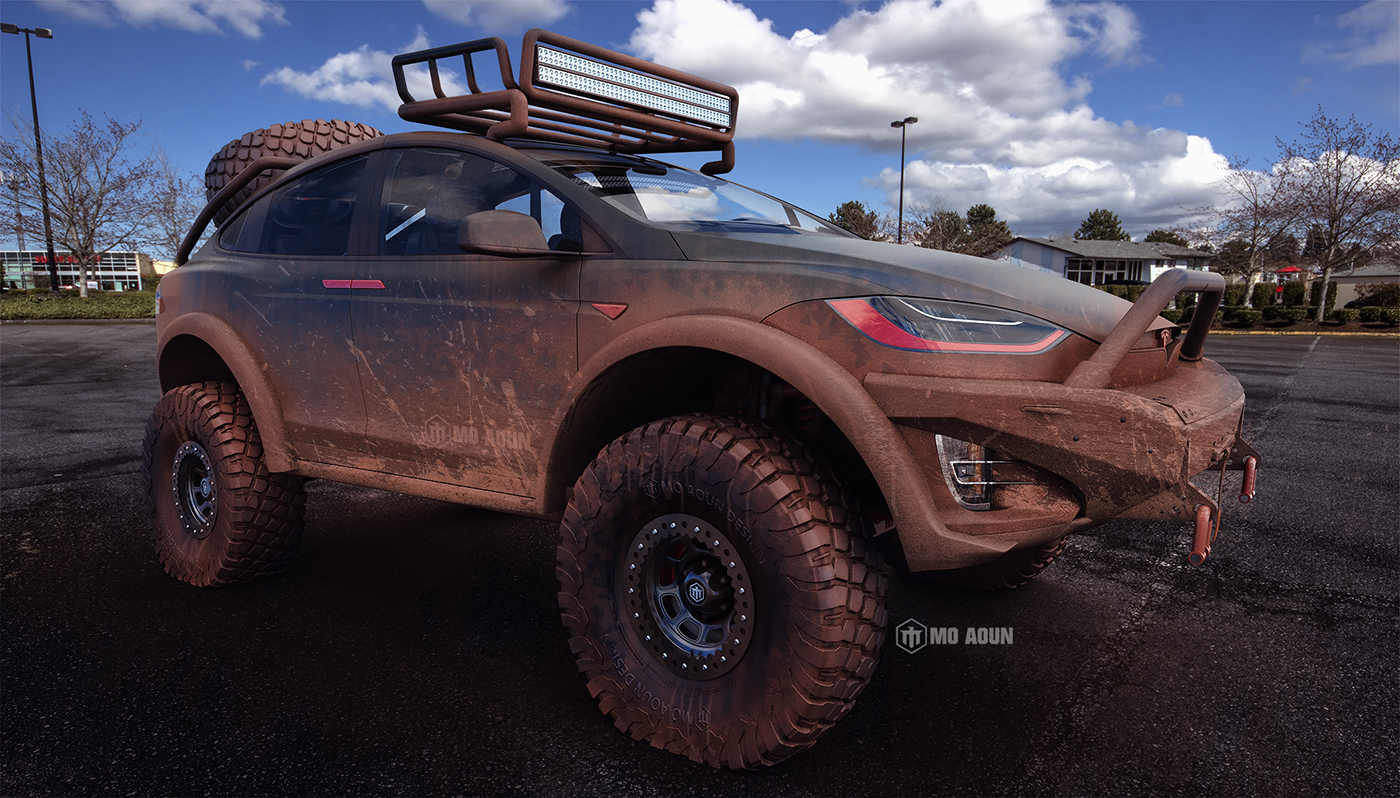 Truck Mud Tires >> Tesla Model X Off-Road Conversion Looks like the Real Deal - autoevolution