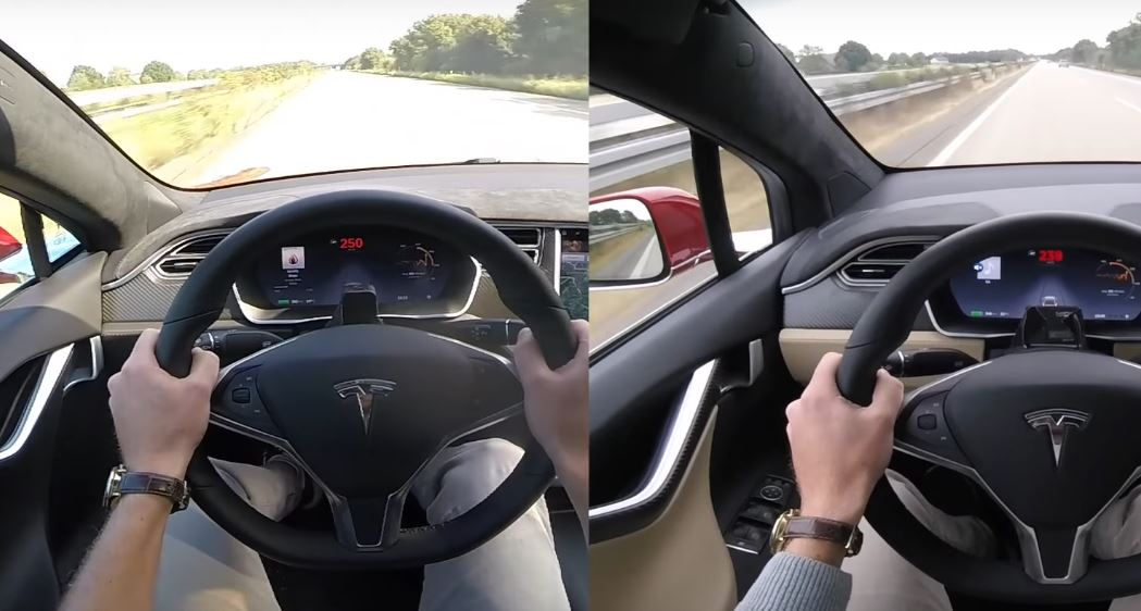 tesla model x p90d vs model s 0 155 mph acceleration comparison shows speed gap autoevolution. Black Bedroom Furniture Sets. Home Design Ideas