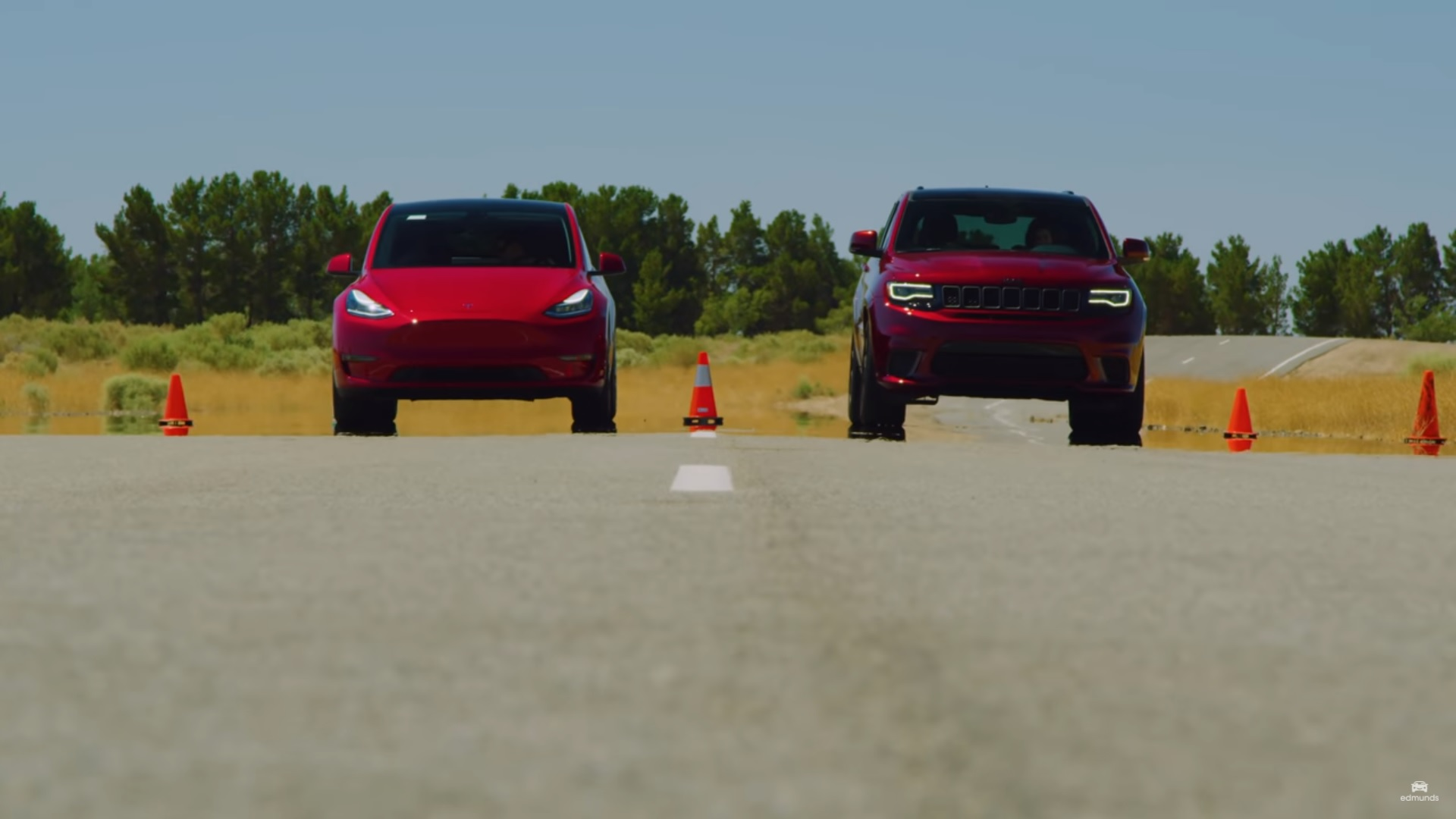Tesla Model Y Drag Races Jeep Trackhawk, There Can Be Only ...