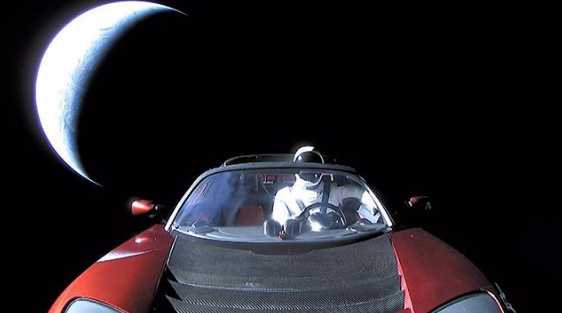 Starman And His Tesla Roadster Have Just Gone Around The Sun