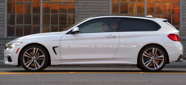 test rendering bmw 4 series shooting brake autoevolution. Black Bedroom Furniture Sets. Home Design Ideas