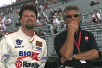 Mario Andretti and son Michael