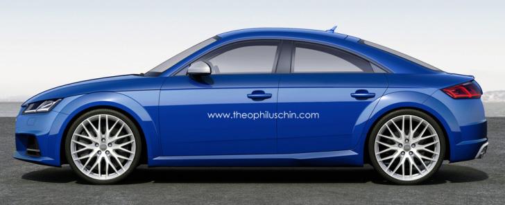The Audi Tt 4 Door Coupe Makes Sense Autoevolution