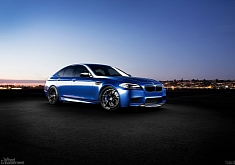 The Blue Marble: BMW F10 M5 on HRE S101 Wheels [Photo Gallery]