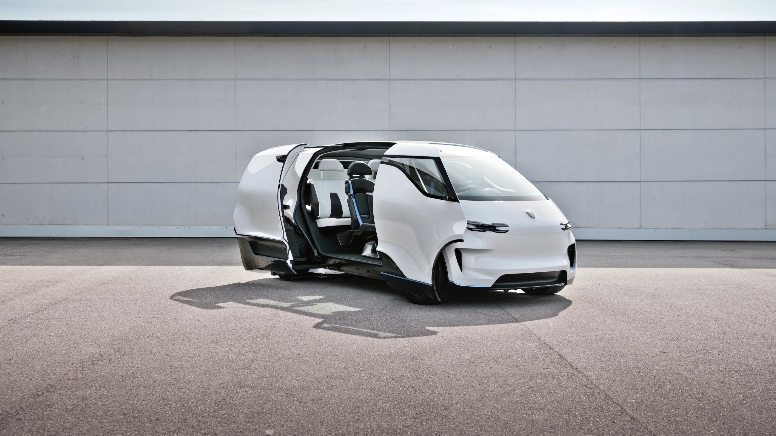 The Cabin of the Porsche Renndienst Concept Van Is a Protective Pod With a Soul