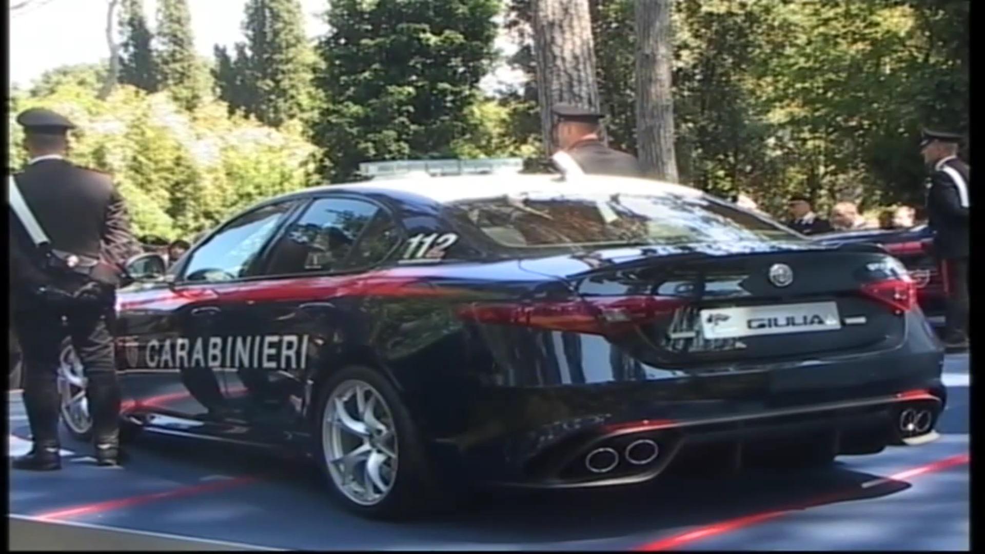 The Carabinieri Receive Two Alfa Romeo Giulia Quadrifoglio Sedans