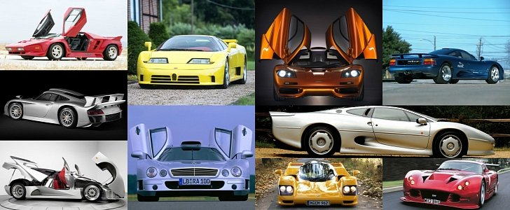 the coolest supercars of the 1990s