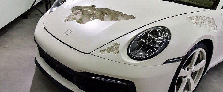 The Damaged Porsche 911s of Daniel Arsham, or How Destroying Cars Is Art