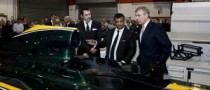 The Duke of York Visited Lotus F1's Norfolk HQ
