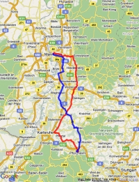 Bertha Benz Route Map