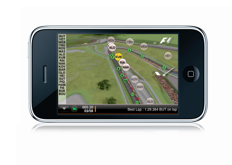 The First iPhone App for Tracking F1 Cars in Real Time - autoevolution