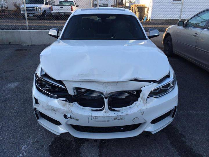 The First Wrecked Bmw M235i Shows Up Online Autoevolution