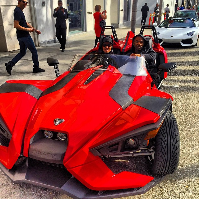 The Game Rides Polaris Slingshot Over The Weekend: Not