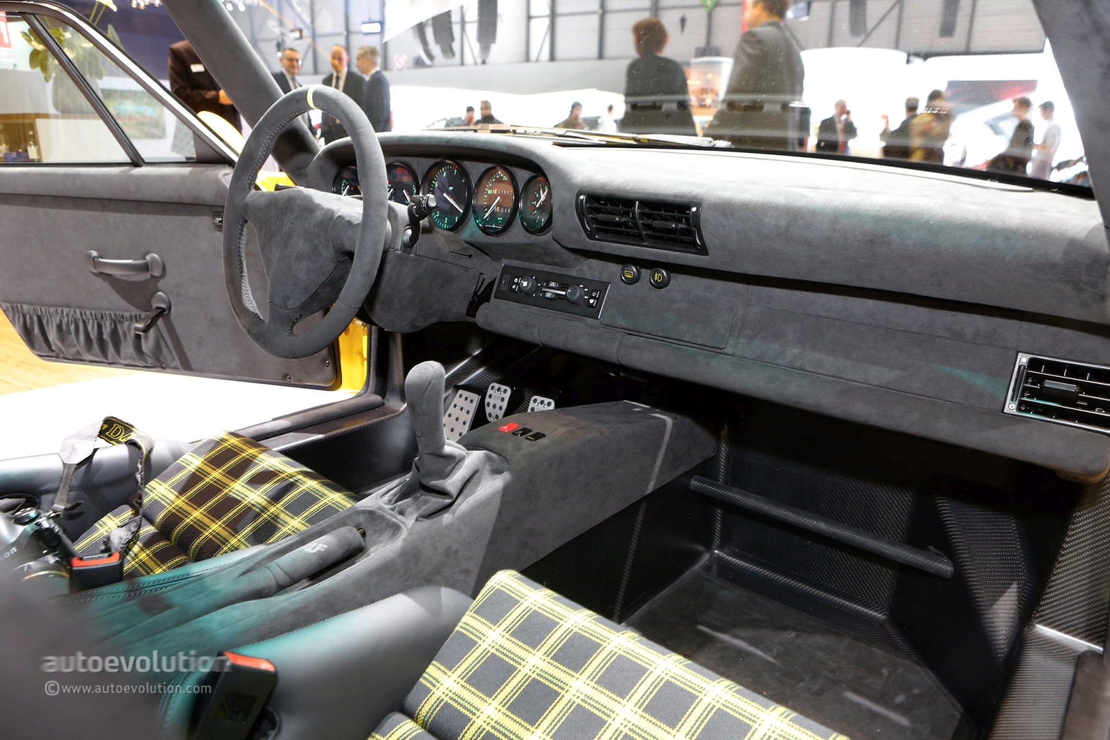 the interior of the 2017 ruf ctr is the alcantara temple of a 710 hp