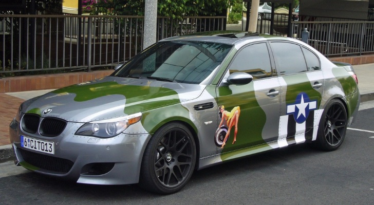 The Irony: BMW M5 With WW2 US Air Force Paintjob