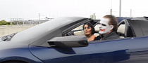 The Joker Spotted in Batman's Lambo [Video]
