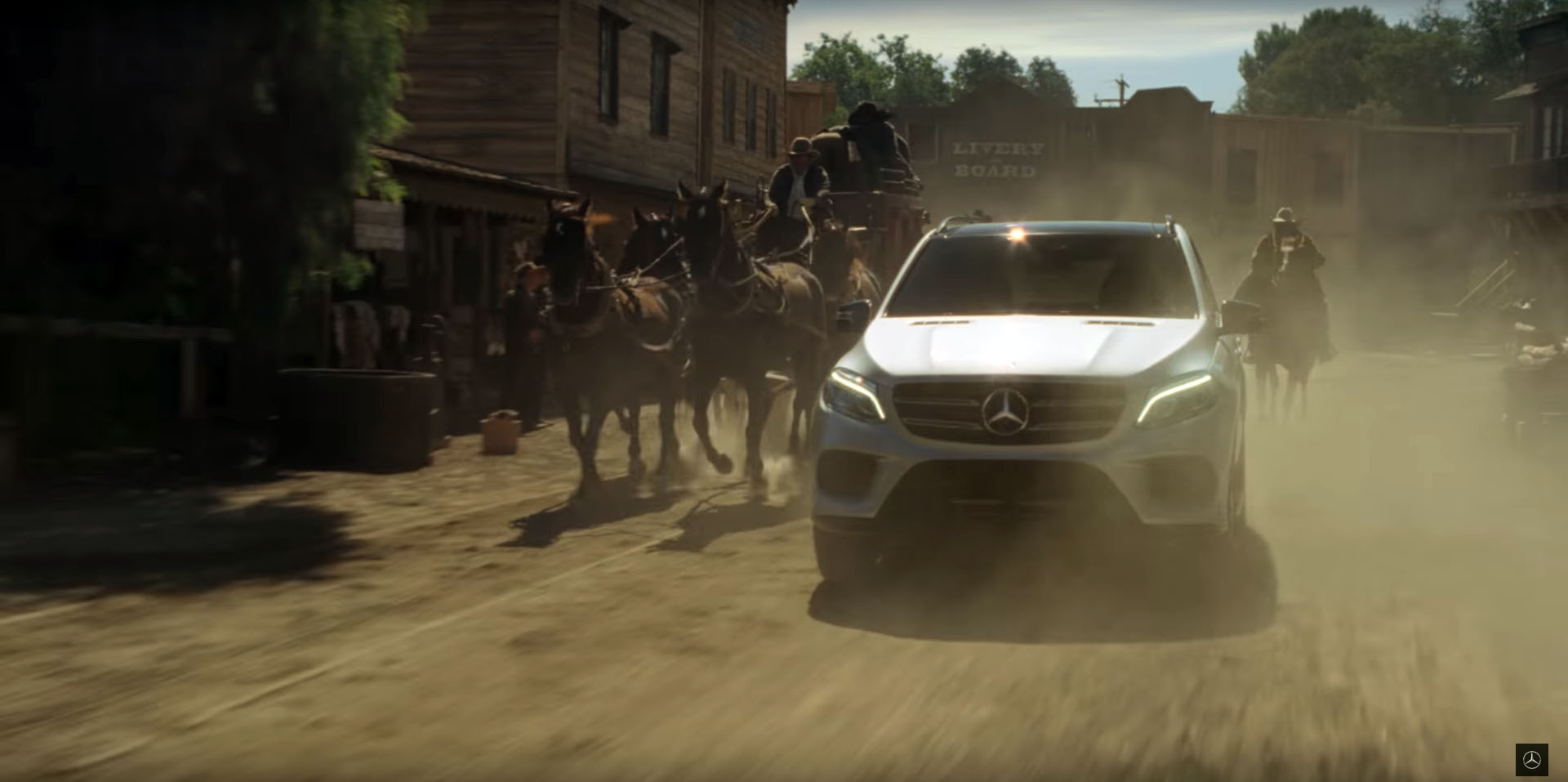 The latest mercedes benz gle commercial destroys three for New mercedes benz commercial