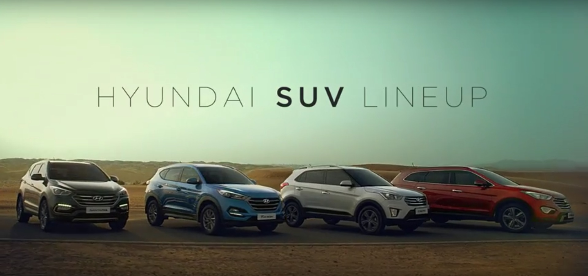 The Only Video Of All Hyundai Suvs Shows Creta Tucson Santa Fe And Grand