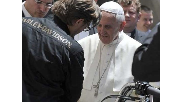 The Pope Gets 2 Harley-Davidson Bikes, Blesses Some 1400 More