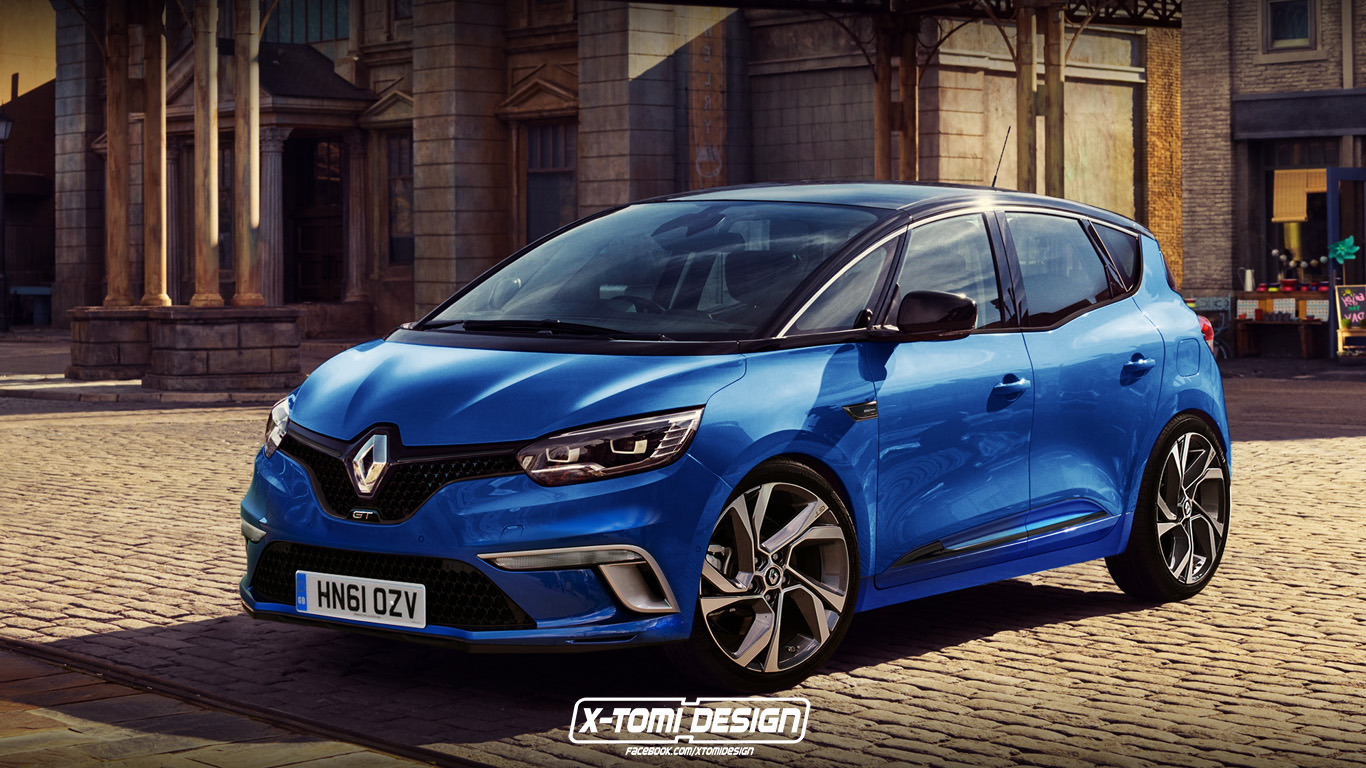 the renault scenic gt might look like this if sports mpvs came back autoevolution. Black Bedroom Furniture Sets. Home Design Ideas