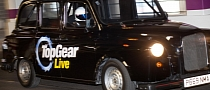 The Stig Drifting 400 hp Black Cab in London for Top Gear Live 2011