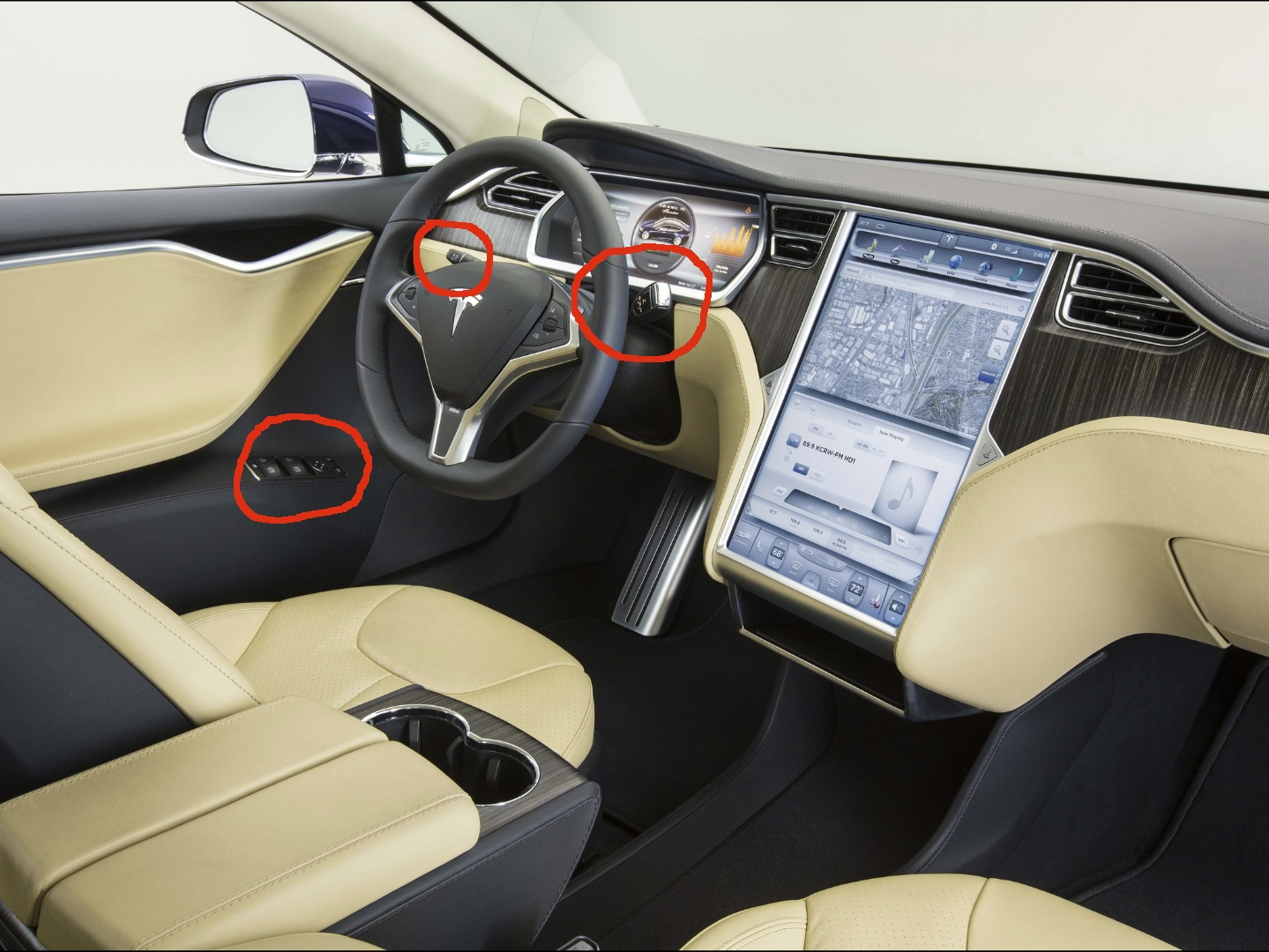 The Tesla Model S is Using Mercedes-Benz Switchgear - autoevolution