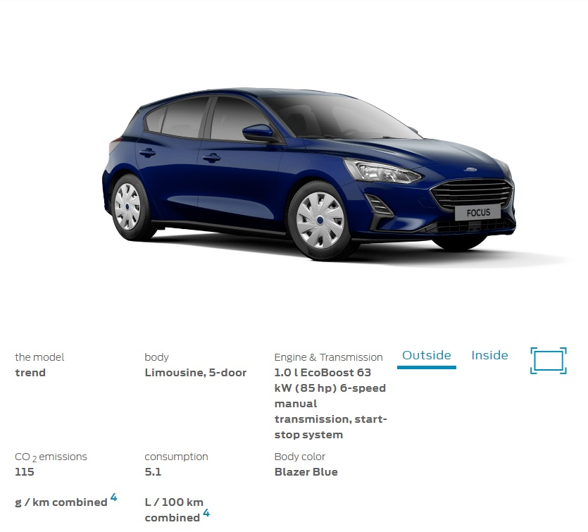 The Trend Is The Cheapest 2019 Ford Focus Available In