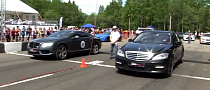 The Twin-Turbo Drag Race: Bentley Continental GT V8 vs S65 AMG [Video]