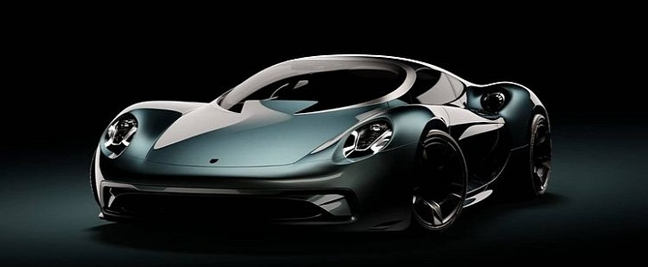 The Ultimate Porsche Supercar Gets Rendered With Jaguar XJ220 Retro Vibes