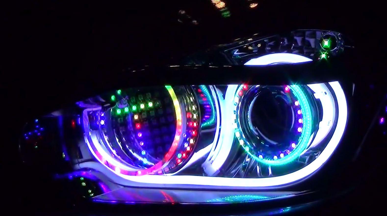 These Japanese Custom LED Headlights Can Spell - autoevolution