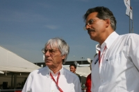 Bernie Ecclestone and Mario Theissen