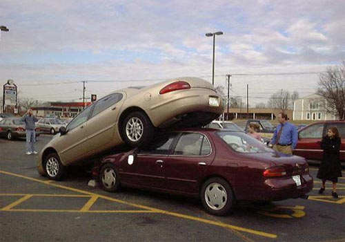 I Backed Into A Parked Car